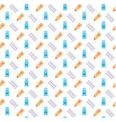pharmaceutical plastic packaging tube pills icon vector image