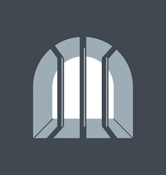 Prison window vector