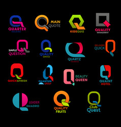 q letter abstract corporate identity company sign vector image