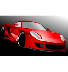 red sportscar vector image