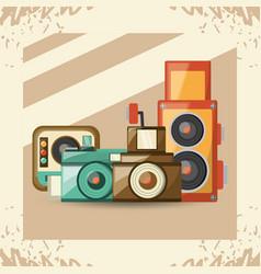 retro cameras design vector image