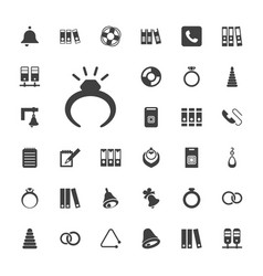 Ring icons vector