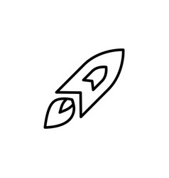 rocket line icon in flat style for app ui vector image