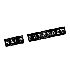 Sale extended rubber stamp vector