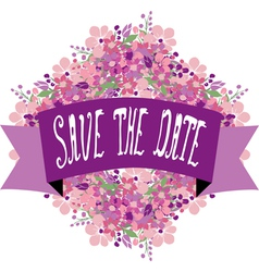 save the date banner vector image