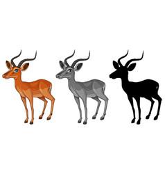 Set of gazelle character vector