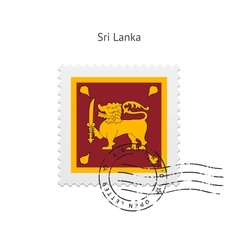 Sri Lanka Flag Postage Stamp vector