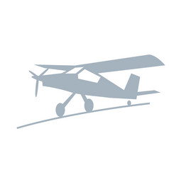 stylized drawing a light airplane vector image