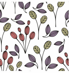 stylized flowers on a white background vector image