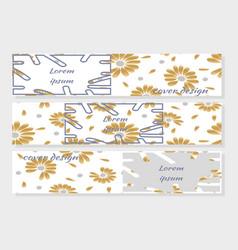 summer golden daisy flowers background vector image