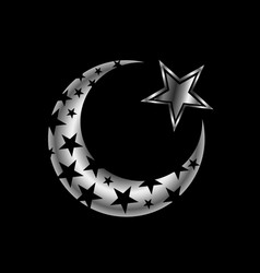 The islamic star vector