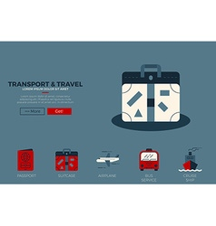 Travel website template vector image