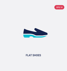 Two color flat shoes icon from clothes concept vector