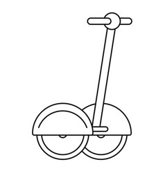 Two wheeled electric vehicle icon outline style vector