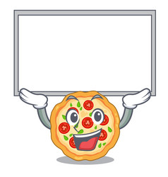 Up board margherita pizza in a cartoon oven vector