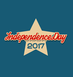 usa independence day banner with star vector image