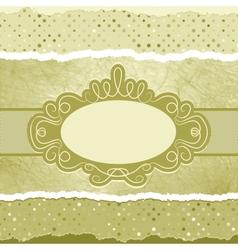 Vintage elegant card template copy space EPS 8 vector image