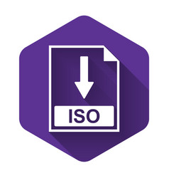 White iso file document icon download iso button vector