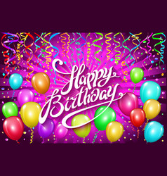 balloons happy birthday colorful balloon sparkles vector image vector image
