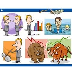 businessmen cartoon concepts set vector image vector image
