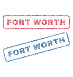 fort worth textile stamps vector image vector image