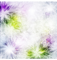 Grunge fabric background with flowers vector image vector image