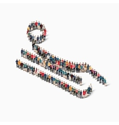 People sports bobsled vector