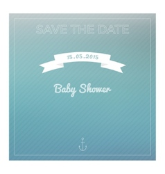 Save the date baby shower card vector image