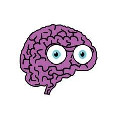 brain violet cartoon vector image vector image