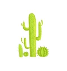 Cacti Mexican Culture Symbol vector image vector image