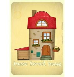 Cartoon Houses Postcard vector image vector image