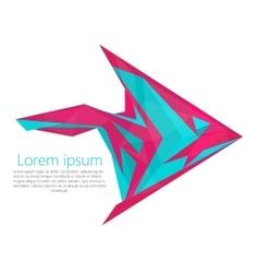Fish arrow logo modern material design concept vector image