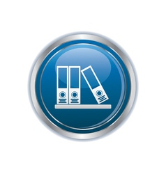 Folders on a shelf icon vector image vector image