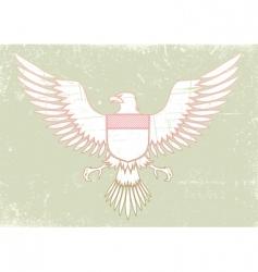 medieval eagle vector image vector image