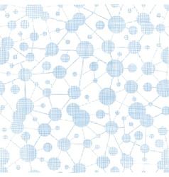 Blue molecules testile texture seamless pattern vector image