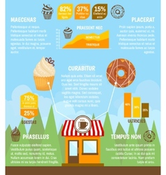 Donut cupcake infographic vector image vector image