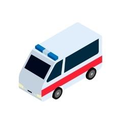 Isometric ambulance icon vector