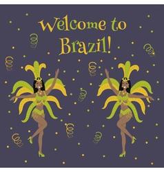 samba dancer vector image