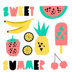 Summer Design Elements vector image vector image