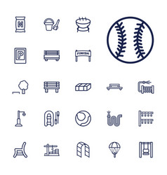 22 outdoor icons vector