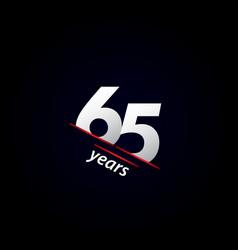 65 years anniversary celebration black and white vector