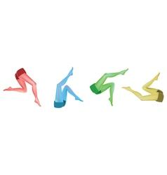 Abstract leg art vector