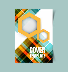 abstract report cover 2 vector image