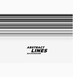 Abstract speed motion lines in black and white vector