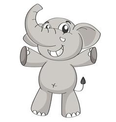 an elephant vector image