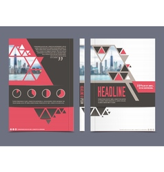 Annual report brochure template vector image