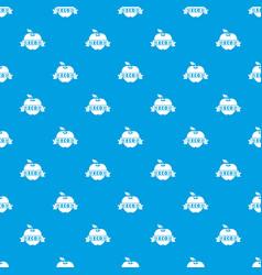 apple pattern seamless blue vector image