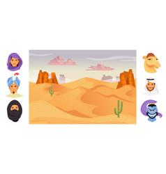 arab characters vector image