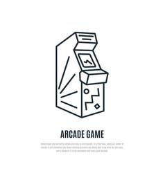 Arcade game line icon arcade machine symbol vector