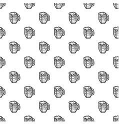 black beer mug pattern seamless vector image